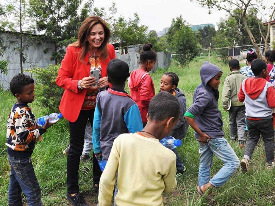 3-Freizeit mit den Schülern in Addis Abeba.